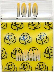 Smiley Face Emoji Design Ziplock 100