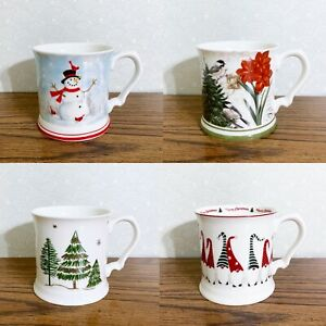 Snowman Cardinal Coffee Cup Mug 13 oz Grace Teaware Christmas Holiday Winter