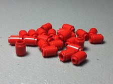 NEW LEGO Red Round Bricks 1X1 Open Stud - Lot of 25 Pieces - 3062b Authentic