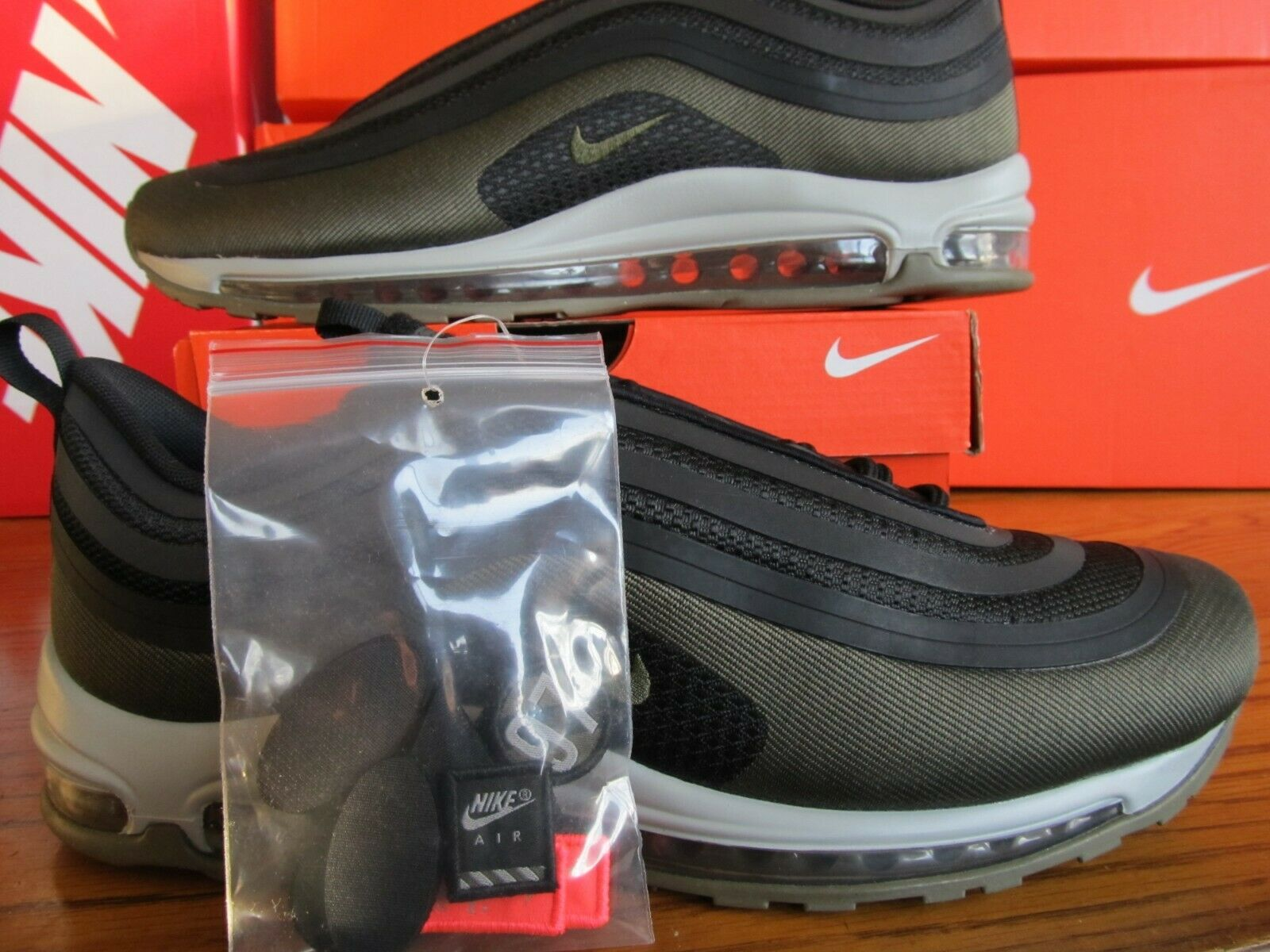 Ds Nike Air Max 97 Ul 17 Hal Ultra Patch black green Oliva 12 Ah9945 001 95 1 90