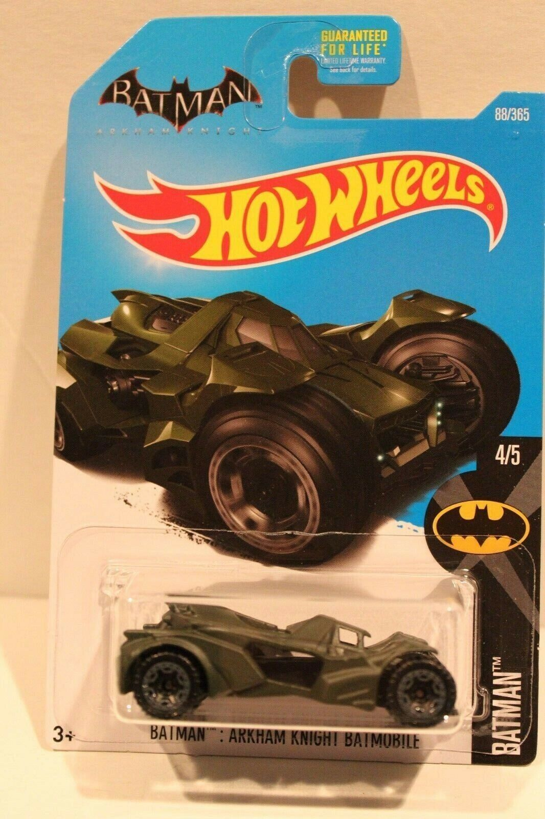 Hot Wheels RARE erreur voiture Batman Arkham Knight Batmobile 88 365