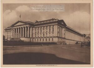 Treasury-Building-Washington-DC-Original-1917-Photogravure-Print