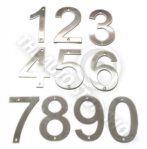 Acier inoxydable maison numéros-nº 138-vis sur house//porte//building 10cm