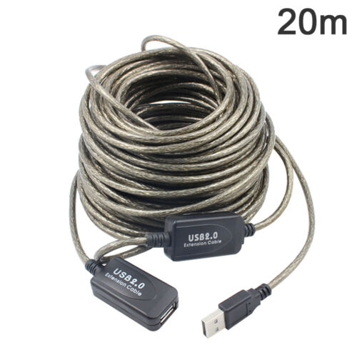5//10//15//20m USB 2.0 Active Extension Repeater Cable Signal Booster Cord Worthy