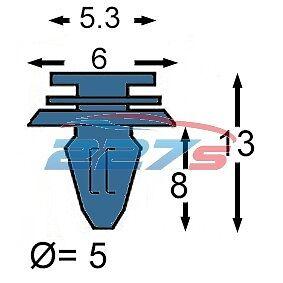joint 50x Ford Mondeo Joint de porte clips Pour Rebord Basse Caoutchouc weatherstrip