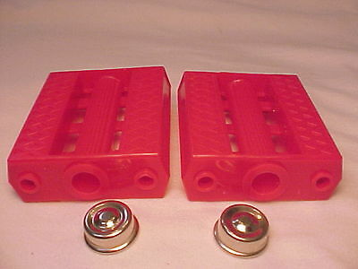 "Vintage Red 7//16/"" Tricycle Pedals Elgin Colson Murray Huffy Amf nos"