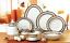 57-Piece-Euro-Porcelain-Greek-Key-Fine-Bone-China-Dinner-Dish-Set-for-8-White thumbnail 2