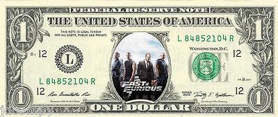 Fast and Furious 7 (Paul Walker - Vin Diesel) {in COLOR} - REAL Dollar Bill