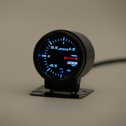 "Sensor 7 Color LED Light 2/"" Smoke Pointer Car Turbo Boost Gauge 1 to 1.5 Bar"