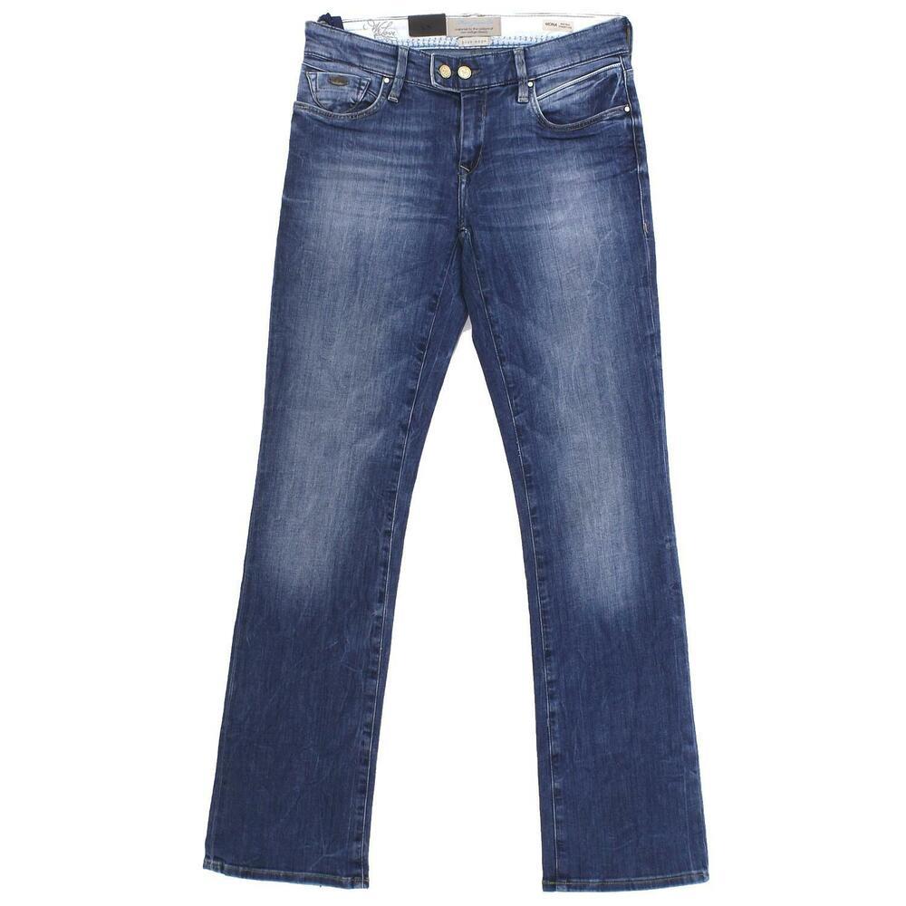 18719 Mavi Jeans Femmes Pantalon Mona Blue Edge Stretch Acid Blue Bleu
