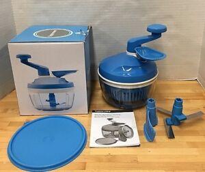 Verwonderlijk Tupperware Quick Chef Pro System Chopper Mixer Blue Original Box RN-86