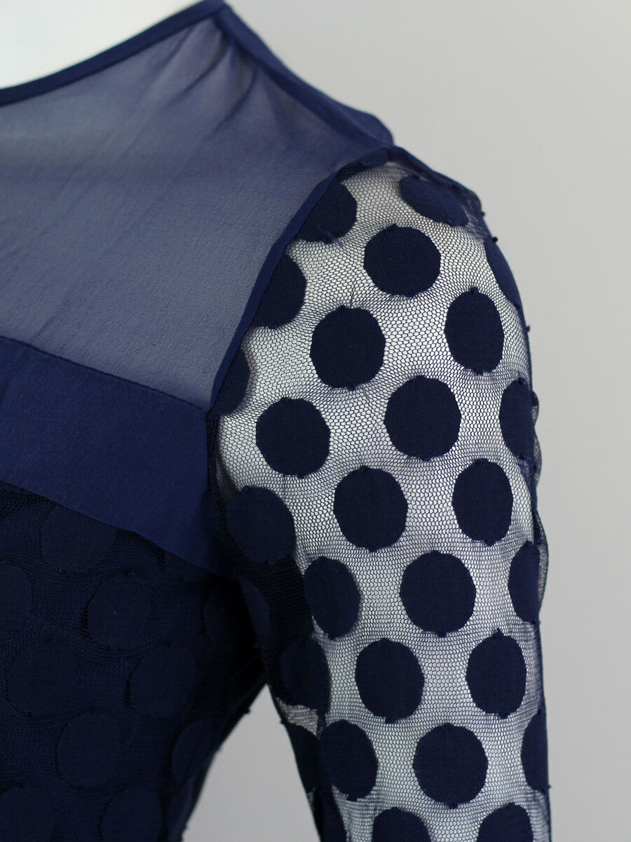 DIANA VON FURSTENBERG BLUE SILK LACE DRESS SIZE U… - image 3