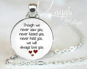 925 silver plt miscarriage memorial baby loss necklace pendant image is loading 925 silver plt miscarriage memorial baby loss necklace aloadofball Choice Image