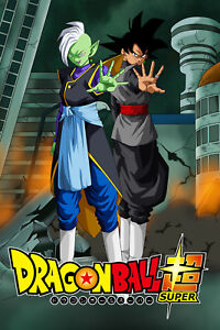 dragon ball super poster zamasu and goku black saga 12inx18in free