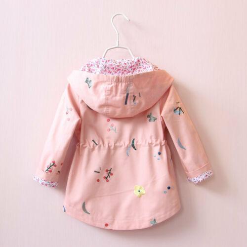 Toddler Baby Girls Boy Windbreaker Coat Baby Kids Hooded Outwear Jacket Clothes