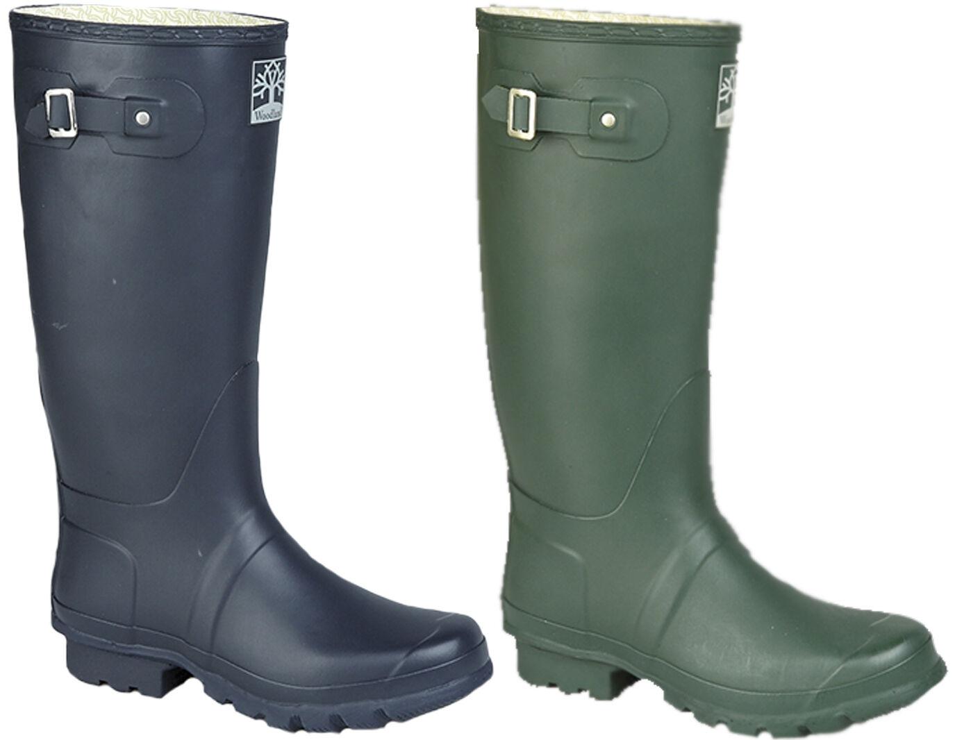 Mens Boys Wellingtons Boots Woodland Wellies bluee Green Boots UK 3 - 15