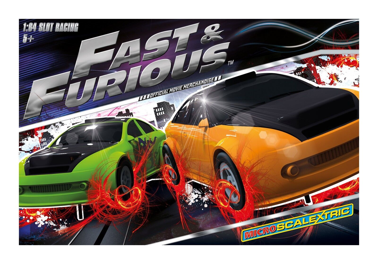 Scalextric Micro Scalextric Fast & Furious Set MINT BOXED UNUSED POST PAID UK