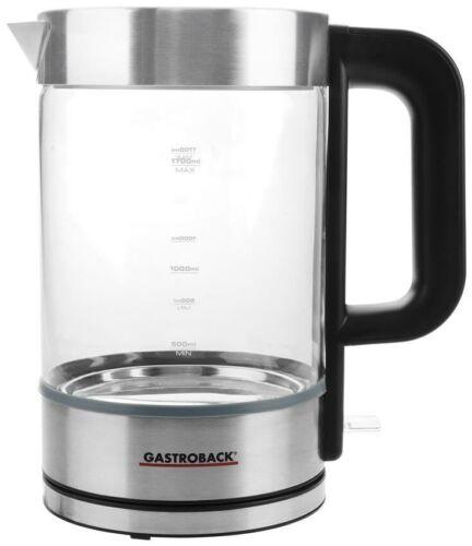 Gastroback Design Wasserkocher Basic Wasserkocher, 3000 Watt 1.7 Liter, ed...