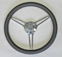 1967 Olds Cutlass 442 Delta Black Leather On Billet Steering Wheel 14 3/4