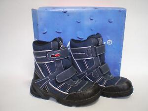 Kinder-Jungen-Tex-Winter-Stiefel-Boots-Schuhe-SLAM-TEX-Gr-36-Navy-Neu