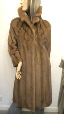 BLOGGERS FAVE MINK FUR COAT MID BROWN SABLE LONG 'CROC' BELT MINT PERFECT WINTER