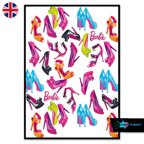 Barbie High Heels Poster Print A4 A3 Wall Art Decor Home Fashion Salon Pink 1436