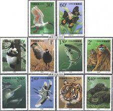 Volksrepublik China 3115-3124 (kompl.Ausg.) gestempelt 2000 Geschützte Tiere