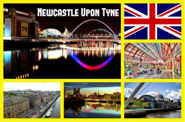Newcastle sobre Tyne Recuerdo Original Imán de Nevera - Monumentos/Bandera/