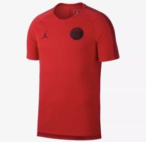 wholesale dealer 02fd6 0ceb1 Details about Nike Jordan Paris Saint-Germain PSG Squad Training Top - Red