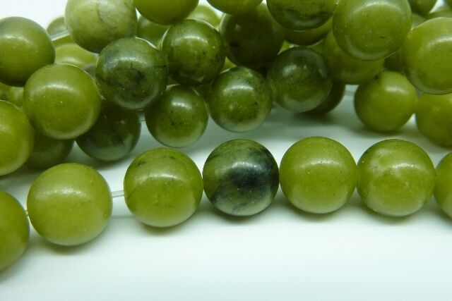 46 pce Round Green Taiwan Jade Gemstone Beads 8mm Jewellery Making Craft