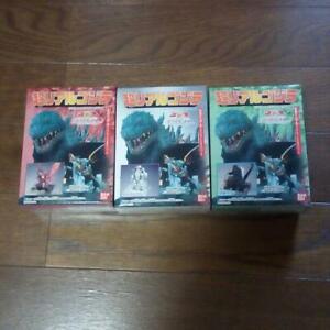 Bandai-Super-Real-Godzilla-3-Types-Set-Shokugan-Destroyer-MechaGodzilla
