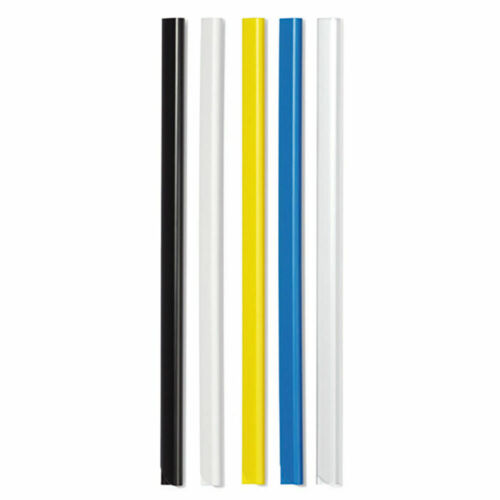 Durable A4 Black 6mm Spine Bars Pack of 50