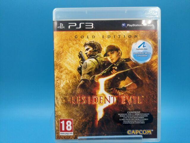 jeu video ps3 playstation 3 PAL FR complet resident evil 5 gold / USK 18ans