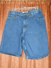 BIG MAC sz 31 Cotton Denim Jean Shorts 30 x 9 Sturdy Indigo Blue Workware L22~