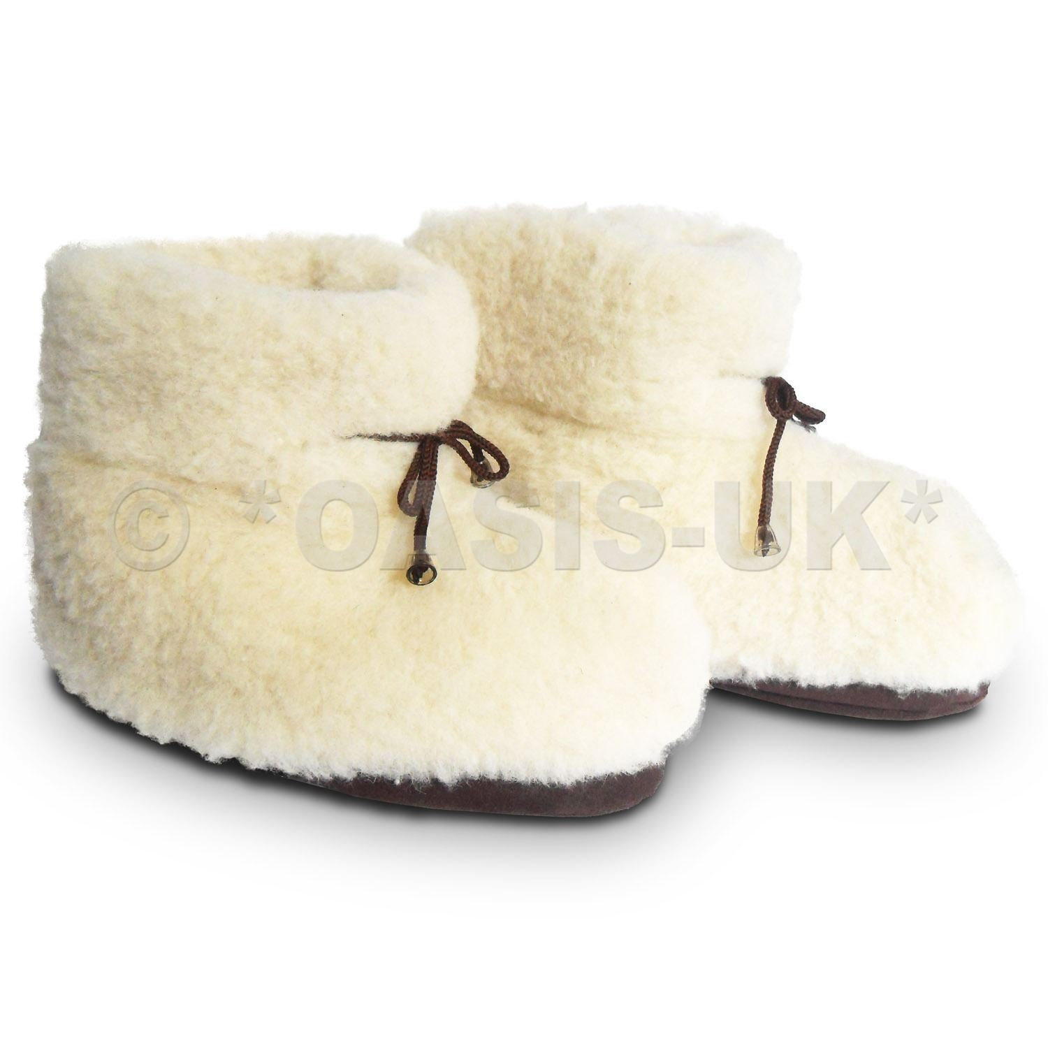 Cozy Foot 100% Pure Sheep Wool Wool Sheep - Unisex Slippers Hombre & Mujer - Cream 23d6c3