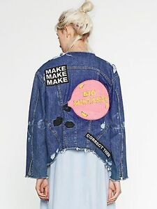 a4ce3694 ZARA NEW AW16 DENIM JACKET WITH PATCH AT THE BACK SIZES XS S M L Ref ...