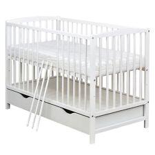 Kinderbett weiß mit schubladen  Babybett Kinderbett 120 X 60 lasse WEISS mit Schublade Kasten 3 ...