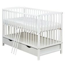 Artikel 1 Babybett Gitterbett Kinderbett Schublade 120x60 Weiß Massivholz  Mit Matratze  Babybett Gitterbett Kinderbett Schublade 120x60 Weiß  Massivholz Mit ...