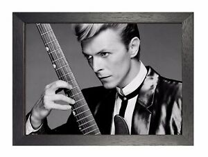 David Bowie 8 England Song Writer Music Famous Celebrity Singer Guitar Poster