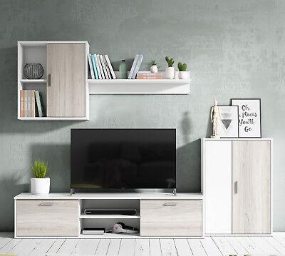 Mueble salon comedor modulo bajo modulo colgante y armario color ...
