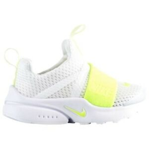 e2e92084e TODDLER GIRL: Nike Presto Extreme Shoes, White & Volt - Size 9C ...