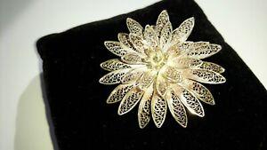 Fabulous-Vintage-Silver-Filigree-Rococo-Brooch