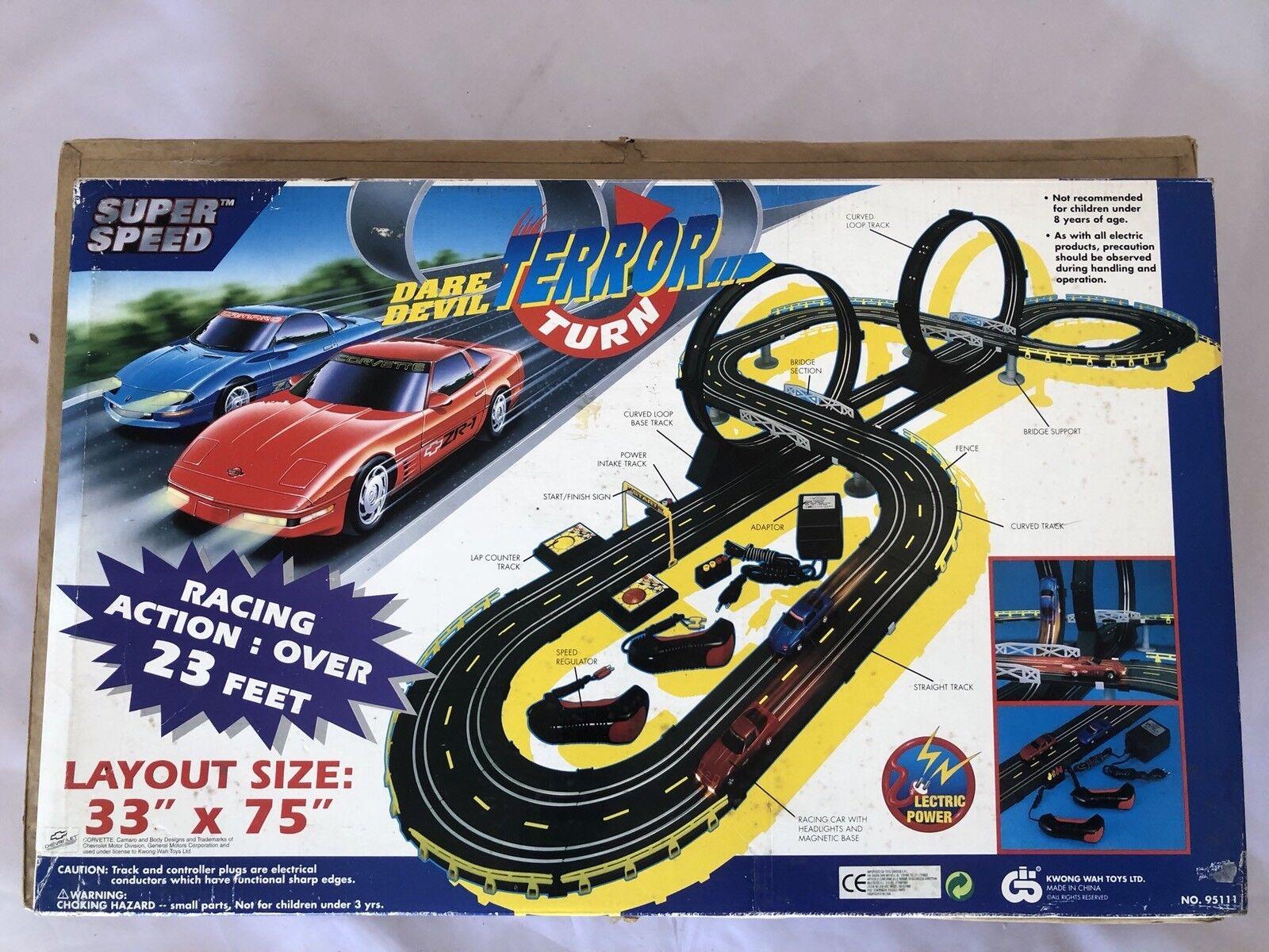 Vintage Autopista-Razza Elettrica Dare Devil Terror Turn 1990.KWONG WAH giocattoli