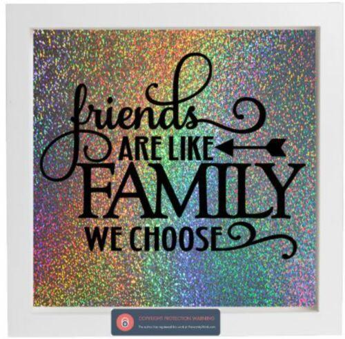 Pegatina De Vinilo Para Caja De Ikea Marco-los amigos son como familia elegimos citar