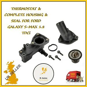 THERMOSTAT /& COMPLETE HOUSING /& SEAL FOR FORD FOCUS C-MAX 1.8 TDCi