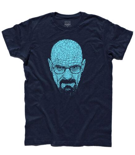 T-shirt uomo VOLTO HEISENBERG CRISTALLI Walter White metanfetamina Breking Bad