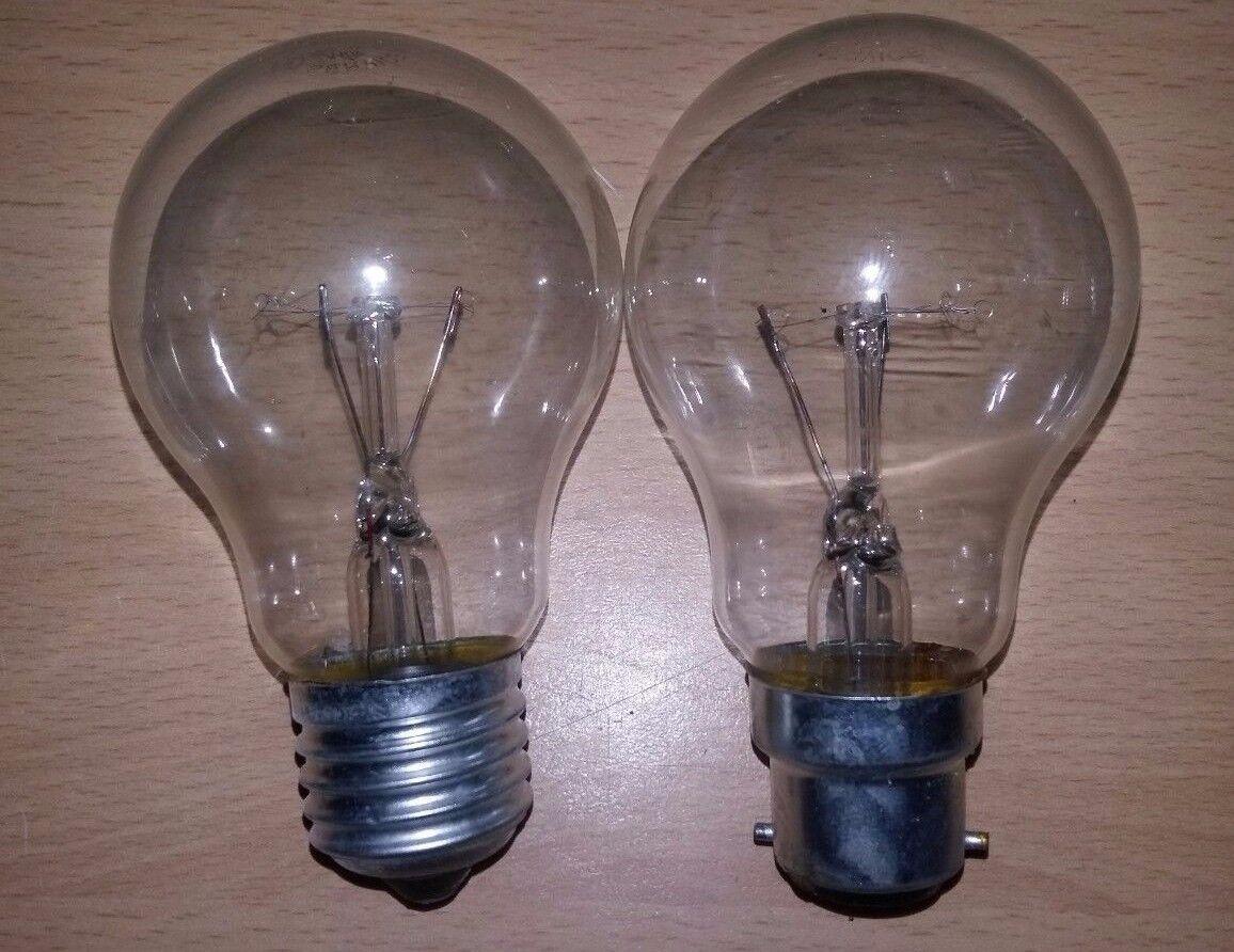 100 x 60w Clear GLS Light Bulb BC Push In B22 Or ES Screw In E27 Cheap Bulbs