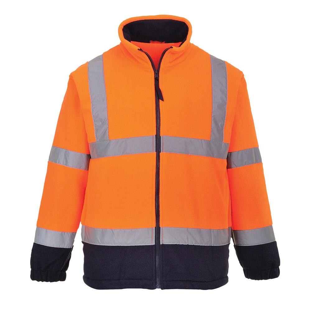 Portwest Men Hi-Vis Two Tone Fleece orange Navy Yellow Various Size F301