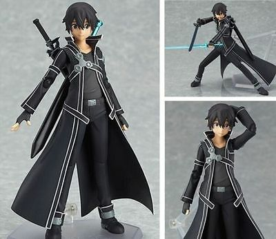 1XSAO Sword Art Online Kirigaya Kazuto Kirito Figma PVC Action Figure New In Box