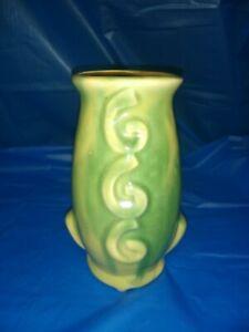Vintage Green Drip Glaze Vase 5 1/2×3 1/2